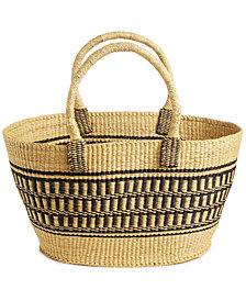 Global Goods Partners Geometric Striped Extra-Large Basket