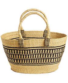 Global Goods Partners Geometric Striped Extra-Large Basket