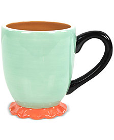 Coton Colors Mid Century Mix Mint Ruffle Mug