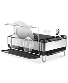 Dish Rack, Steel Frame with Wine Glass Holder