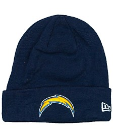 New Era Los Angeles Chargers Basic Cuff Knit Hat