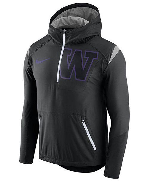 check out 2d2b1 e04d4 Nike Men's Washington Huskies Fly-Rush Quarter-Zip Hoodie ...