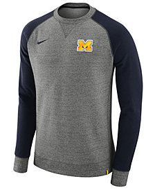 Nike Men's Michigan Wolverines AW77 Crew Sweatshirt