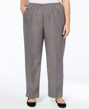 Image of Alfred Dunner Plus Size Classic Pull-On Straight-Leg Pants