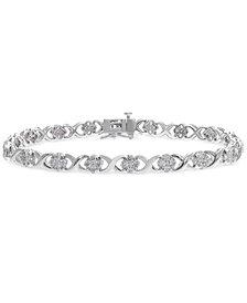 Diamond Cluster X Link Bracelet (3 ct. t.w.)