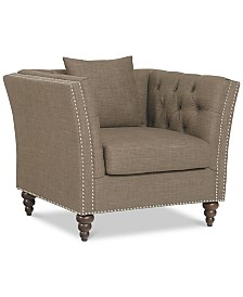 Aldon Upholstered Accent Chair, Quick Ship