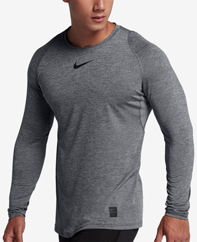 Nike Men's Pro Fitted Long Sleeve Training Shirt - T-Shirts - Men ...