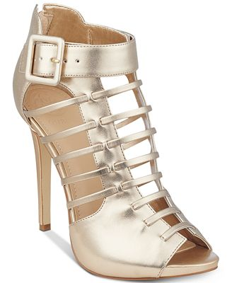 GUESS Women's Adhirra Caged Dress Shooties