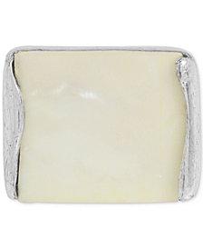 Robert Lee Morris Soho Silver-Tone White Shell Ring