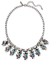 I.N.C. Hematite-Tone Multi-Stone Statement Necklace, Created for Macy's