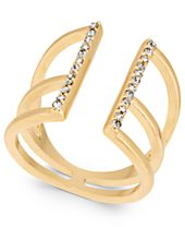 I.N.C. Gold-Tone Pavé Open Ring, Created for Macy's