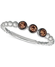 Chocolatier® Diamond Bezel Band (1/6 ct. t.w.) in 14k White Gold
