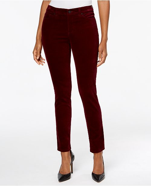 Charter Club Petite Bristol Velveteen Pants, Created for Macy's