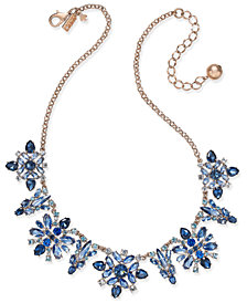 kate spade new york 14k Rose Gold-Plated Crystal Collar Necklace