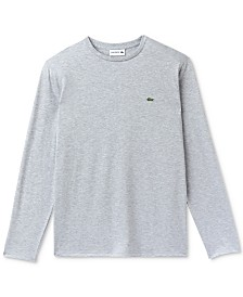Lacoste Long Sleeve Pima Jersey Crew Neck Tee Shirt