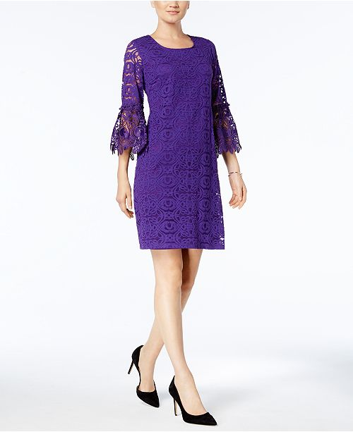 Lace Bell-Sleeve Dress, Created for Macy's