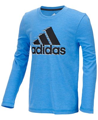 adidas ClimaLite® Flame Logo Graphic-Print Shirt, Little Boys