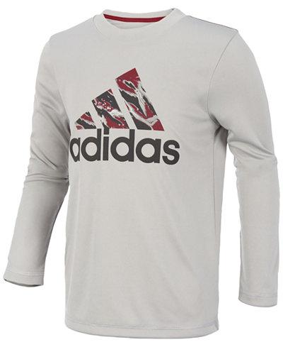 adidas ClimaLite® Logo Graphic-Print Shirt, Little Boys