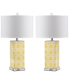 Safavieh Quatrefoil Set of 2 Table Lamps