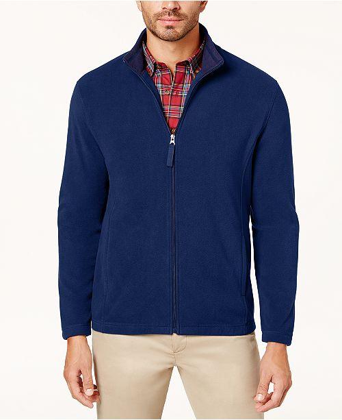 Club Room Men's Full-Zip Fleece Jacket, Created for Macy's