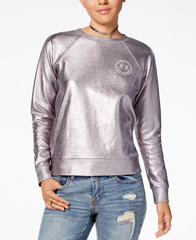 Polly & Esther Juniors' Metallic Foil Sweatshirt