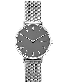 Skagen Women's Hald Stainless Steel Mesh Bracelet Watch 34mm