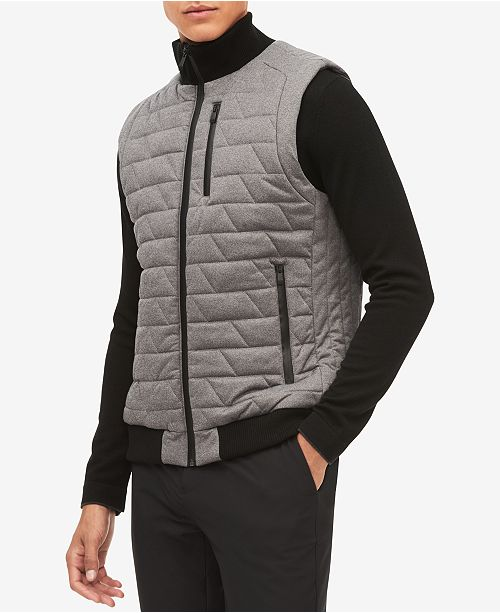 Calvin Klein Men's Space Dyed Quilted Vest