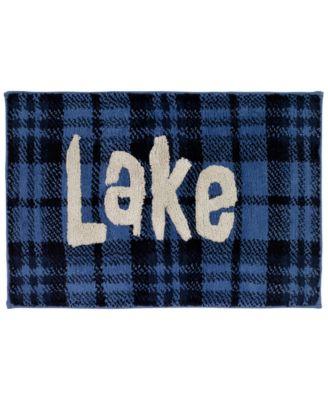 Lakeville Cotton Plaid Bath Rug