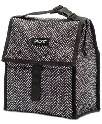 Black and White Freezable Lunch Bag