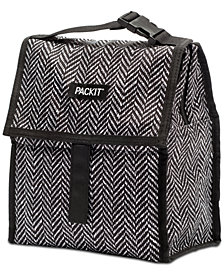 Pack It Black and White Freezable Lunch Bag