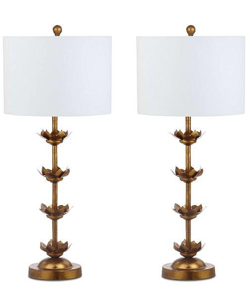 Safavieh Lani Set Of 2 Table Lamps Lighting Lamps Home Macys