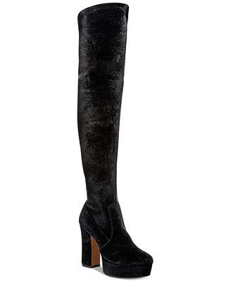 Avec Les Filles Linnea Over-The-Knee Velvet Boots