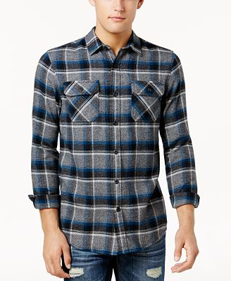 American Rag Men's Kay Grindle Plaid Flannel Shirt, Created for Macy's