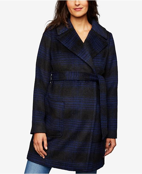 A Pea in the Pod Plaid Maternity Jacket