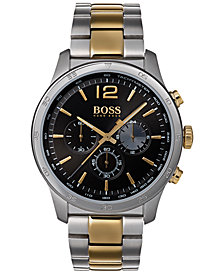 BOSS Hugo Boss Men's Chronograph Professional Two-Tone Stainless Steel Bracelet Watch 42mm