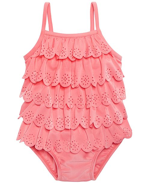 9e94876b6bd21 ... First Impressions 1-Pc. Ruffled Swim Suit, Baby Girls, Created for  Macy's ...