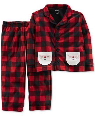 Carter's 2-Pc. Buffalo-Check Santa Pajama Set, Little Boys (4-7) & Big Boys (8-20)