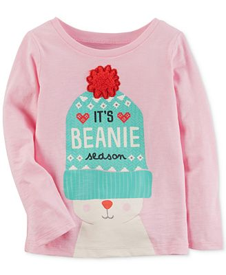 Carter's Beanie-Print Cotton T-Shirt, Little Girls & Big Girls ...