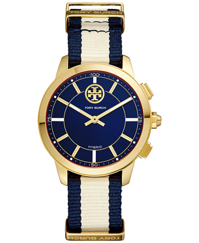 Tory Burch Women's ToryTrack Collins Multi Fabric Strap Hybrid Smart Watch 38mm