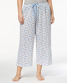 Plus Size Icy Margarita Knit Capri Pajama Pants