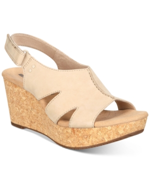 Clarks Wedges COLLECTION WOMEN'S ANNADEL BARI WEDGE SANDALS WOMEN'S SHOES