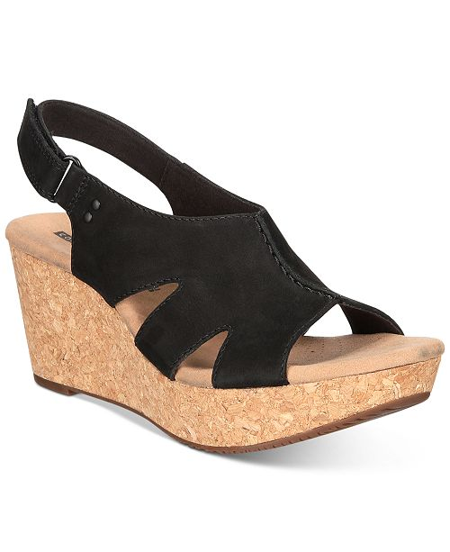 Clarks Collection Women s Annadel Bari Wedge Sandals - Sandals ... 0763b306da