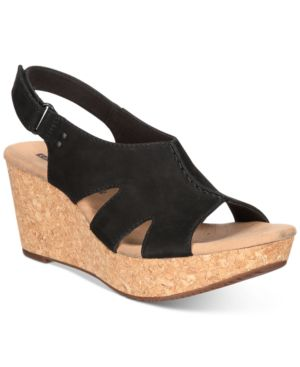 COLLECTION WOMEN'S ANNADEL BARI WEDGE SANDALS WOMEN'S SHOES