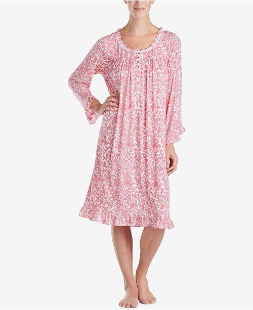 Eileen West Printed Waltz Nightgown