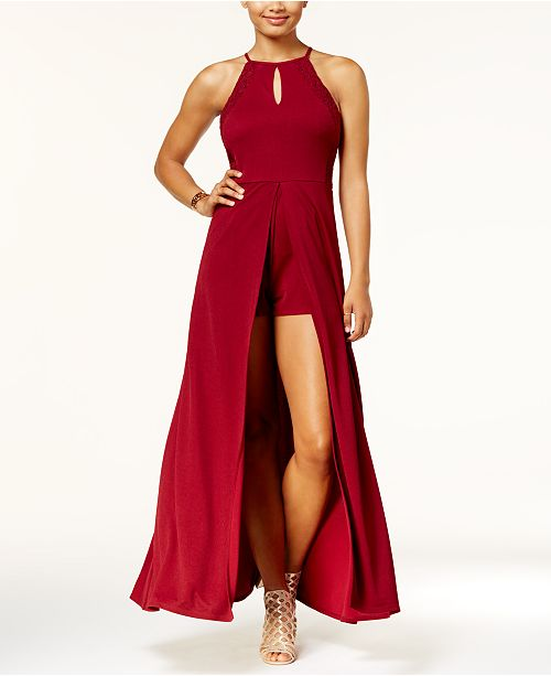 3f59be151fe1 Speechless Juniors  Lace-Back Romper Dress   Reviews - Dresses ...
