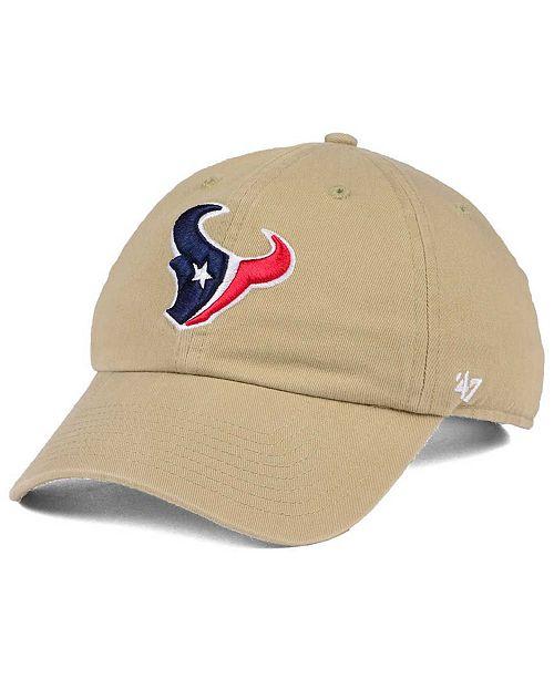 pretty nice 56d73 83f1e ...  47 Brand Houston Texans Khaki CLEAN UP Cap    ...