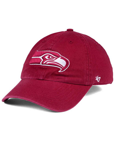 '47 Brand Seattle Seahawks Cardinal CLEAN UP Cap