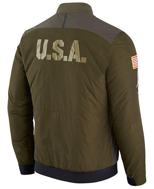 Nike Men s Carolina Panthers Salute To Service Bomber Jacket ... 2ce1a67f5