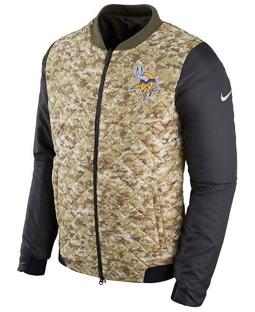 ... Nike Men s Minnesota Vikings Salute To Service Bomber Jacket ... 7604822f2
