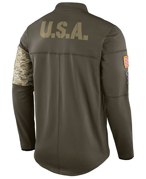 644ce8a134c Nike Men's San Francisco 49ers Salute To Service Hybrid Half-Zip Jacket ...